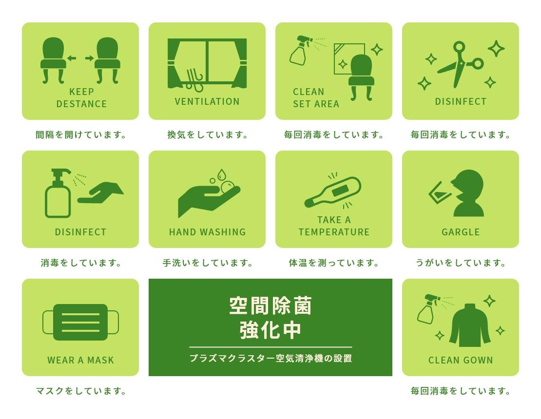 nagomiでの新型コロナウイルス感染予防対策